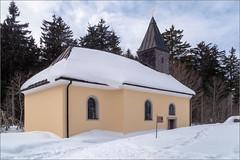 Kirche von Leopoldsreut / Church of Leopoldsreut (ludwigrudolf232) Tags: kirche schnee dorf wald himmel