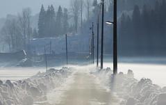 3179 (Keiichi T) Tags: 村 6d road 道 靄 朝 winter village 光 eos haze canon shadow 日本 影 snow 冬 建物 雪 architecture morning japan light