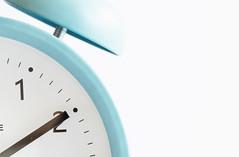 Don't be alarmed... (judi may) Tags: macromonday macro macromondays timepiece clock alarmclock highkey negativespace white whitebackground canon5d tabletopphotography closeup simplicity simple minimal minimalism retro