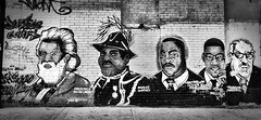 Justice Corps Graffiti (Alexander H.M. Cascone [insta @cascones]) Tags: nyc newyorkcity newyork ny brooklyn art wall graffiti black african american history frederick douglass marcus garvey martin luther king jr malcolmx malcolm x thurgood marshall justice liberty heroes hero bedstuy pride historical figures