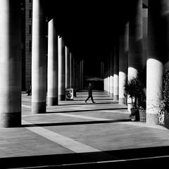 Spend A Pound (Sean Batten) Tags: london england uk europe streetphotography street paternostersquare bw blackandwhite light shadow person sign city urban fuji x100f fujifilm vanishingpoint