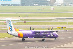 """Flybe G-JEDR Bombardier Dash 8 Q400 (IMG_1211) (Cameron Burns) Tags: flybe be gjedr bombardierdash8q400 bombardier dash8 dash8q400 q400 ext exeter england uk unitedkingdom greatbritain gb white blue red yellow purple green propeller amsterdam schiphol airport amsterdamschipholairport """"amsterdam schiphol"""" ams eham airfield aviation aerospace airliner aeroplane aircraft airplane plane canoneos80d canoneos eos80d canon80d canon eos 80d netherlands holland dutch haarlemmermeer """"luchthaven luchthaven europe action"""