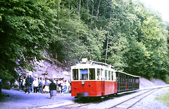 Slide 135-70 (Steve Guess) Tags: tram tramway streetcar strassenbahn strasenbahn трамвай nmvb sncv vicinal belgium belgique belgien belgië бельгия grottes han caves diesel ardennes hansurlesse