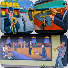 Murale musicale .. (daniel j. villeneuve) Tags: djfotos murale bigeasys restaurant ottawa