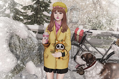 Don't Freeze! (Gabriella Marshdevil ~ Trying to catch up!) Tags: sl secondlife cute winter kawaii doll sorumin mudskin catwa bento yokai whatnext jian ayashi