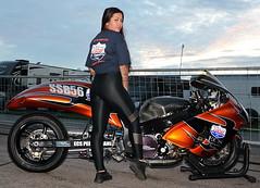 Angie_3431 (Fast an' Bulbous) Tags: hot sexy girl woman tight leggings suzuki hayabusa bike fast drag moto motorcycle people outdoor nikon model