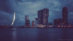Rotterdam (vanregemoorter) Tags: rotterdam city cityscape bluehour night building skyline ciel ville gratteciel eau bâtiment mer
