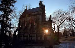 "Cincinnati - Spring Grove Cemetery & Arboretum ""Sunburst At Dexter Mausoleum"" (David Paul Ohmer) Tags: cincinnati ohio spring grove cemetery arboretum sunburst starburst dexter mausoleum light sun"