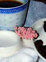 "The right Stuff.     Macro Mondays"" Brew"" (marieschubert1) Tags: java macromondays brew coffee coffeefilter coffeebeans wholecolumbianbeans ground sugar sweetner black milk creame creamer cup mug"