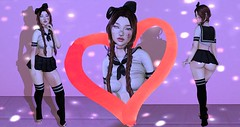 Searching for Senpai (Nova Bean) Tags: secondlife second life cute cutie asian schoolgirl school girl bruise bruises bruised cut cuts blood bloody face beat up clumsy muka bossie magika envious catwa maitreya taketomi reign suicidal unborn duckie twc white crow