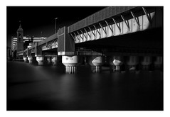Southwark Bridge (www.davidrosenphotography.com) Tags: southwarkbridge london thames mono longexposure water river dramatic