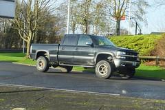 2002 Chevorlet Silverado 1500HD (>Tiarnán 21<) Tags: mxz5349 mxz 5349 uk ireland american america pickup black traffic car