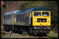 47727/56098 (Lewis_Hurley) Tags: railway train mml midlandmainline diesel lightengine lightloco england uk leicester leicestershire drag 0z84 grid 56 56098 class56 cs caledoniansleeper gbrailfreight gbrf duff class47 47727 47
