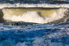 brechende Welle (tleesch) Tags: deutschland drausen gewässer mecklenburgvorpommern meer natur orte ostsee ozean sturm ungesättigt wasser welle wetter zingst grau de