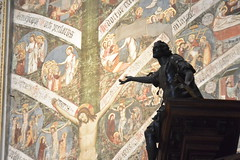 in the church (Hayashina) Tags: church mural statue bergamo italy sundaylights