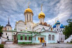 The Trinity Lavra of St. Sergius (Sergiev Posad, Russia) (KonstEv) Tags: church orthodox cathedral cross building architecture dome religion lavra sergievposad tiltshift sky monastery trinity