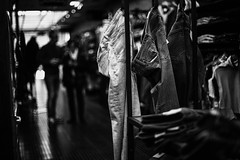 Shopping- (muntsa-joan-BW) Tags: blackandwhite bw bnw street streetphoto streetphotography monochrome monocromo shadows shopping catalonia tienda clothes ropa fashion moda wear