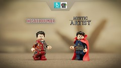 The Steel Defender and The Mystic Artist (Erik Petnehazi) Tags: custom lego avengers infinity war iron man doctor strange stephen dr damaged battle thanos customlego customlegominifigure marvel 3 suit living bricks legend c moc magic wizard time stone eye agamotto master mystic arts endgame end game ironman tony stark bleeding edge mark l 50 steel defender mk