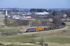 Returning Westbound (DJ Witty) Tags: westernmarylandrailway marylandmidlandrailway emd freight dieselelectriclocmotive railroad photography train rr nikon d610