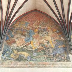 IMG_5997 (Andy961) Tags: polska poland malbork marienburg castle interior vault vaulting arch painting paintings unesco worldheritage