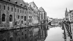 Reflet à Gand (Lцdо\/іс) Tags: ghent gand gent belgique belgium belgie belgian travel citytrip reflexion reflection water noiretblanc vlanderen vlaams blackandwhite lцdоіс december 2018