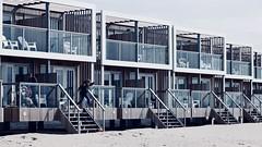 Strandhouses direct on the beach (MLe Dortmund) Tags: again springtime holland beach strandhaus hoek nordsee northsea muster form licht schatten