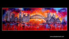 ON THE ROAD (Alice Bernardi Art) Tags: chicago london sydney usa europe australia colors sunset sunrise art painting abstract sky skyscrapers style design urban gallery life love