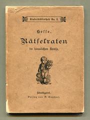 """""""Rätselraten im häuslischen Kreise"""" (altpapiersammler) Tags: alt old vintage buch bucheinband zeichnung freizeit drawing draft book kindheit childhood"""