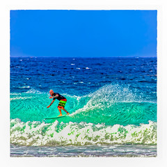 Wave Rider (Timothy Valentine) Tags: 0418 ocean surfer wave vacation 2018 sliderssunday bridgetown saintmichael barbados bb