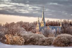 Eglise de Grondines Church (paul-g-goyette-qc) Tags: église church verglas ice trees arbres