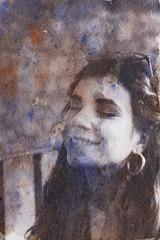 Nº4 (nuriagalv) Tags: watercolor portrait color people black bnw bw blanco bn blancoynegro boy blackandwhite bnwphotography bnwportrait girl