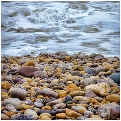Pebble Shore (tina777) Tags: pebble shore beach seaside britishseaside pebbles sea ocean waves surf tide tidal severn estuary porthcawl south wales