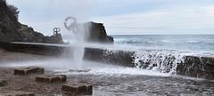 Peine del Viento (manon.sln) Tags: peine del viento spain san sebastian pais vasco nikon mer côte rochers vagues houle