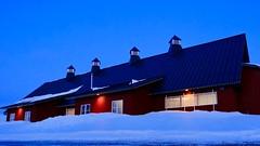 Blue hour at the barn (joanne clifford) Tags: barn experimentalfarm xf1655 fujifilmxt3 redbarn ottawa centralexperimentalfarm canadaagricultureandfoodmuseum horseandcattlebarn bluehour
