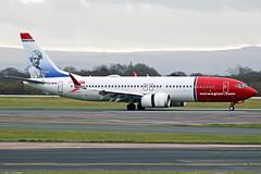 Norwegian Boeing 737 MAX LN-BKB (Sam Pedley) Tags: lnbkb norwegian norwegianairshuttle boeing 737 b38m max max8 737max manchesterairport man egcc dy4479 dy nax marktwain rvp runwayvisitorpark vehicle aircraft airplane jet airliner jetliner civilaviation passengeraircraft