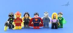 Finished (Mr Lego Customs (my other account got deleted)) Tags: lego batman superman wonder women aqua man flash cyborg green lantern power ring sea king owl ultra super johnny quick grid dc crime syndicate custom decals moc photo shop