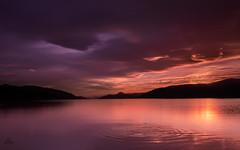 Glow (Impact Imagz) Tags: lochness inverness highlands highlandscenery sunset cloudsstormssunsetssunrises cloudscapes lenticular lenticularclouds clouds twilight gloaming dores doresbeach landscape loch longexposure ripples silhouette light scotland canon