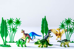 Group of toy plastic dinosaurs over white (wuestenigel) Tags: ancient extinct big tyrannosaurus reptile background play animal plant wild child rex model toy white rubber fun group old concept dinosaurs trees creature historical plastic carnivore colorful dinosaur figurine green prehistoric greenery dangerous childhood leaf blatt nature natur desktop decoration dekoration noperson keineperson disjunct disjunkt summer sommer flora celebration feier tree baum bright hell vacation urlaub color farbe christmas weihnachten card karte tropical tropisch grass gras beautiful wunderschönen season jahreszeit shining leuchtenden