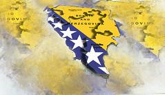 Bosnia and Hercegovina (BalkanPhotos) Tags: bosnia hercegovina bih mapa karta flag republika srpska balkan ilustracija bosna zastava