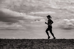 The Runner (raymorgan4) Tags: running runner jogging jogger clouds sky cloudy fitness healthy health cardiff barrage wales x100f fujifilm