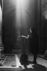 Ray of Hope (Madhusudanan Parthasarathy) Tags: hope ray mtskheta georgia monastery church tbilisi blackandwhite prayer madhusudananparthasarathy nikon d750