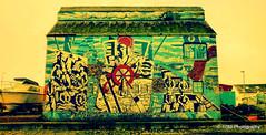 Mallaig Mural (Rollingstone1) Tags: mallaig scotland mural building smokehouse painting art artwork vivid colour boat fishing community