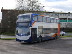 Stagecoach ADL Trident Alexander Dennis Enviro 400 SP11DWW 19897 laying over at Glenrothes on 20 February 2019. (Robin Dickson 1) Tags: edinburghandfifebuses sp11dww strathtayscottish stagecoach dennistrident2 adlenviro400