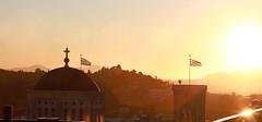 Greek flags (vic_206) Tags: flags banderas atenas athens grecia