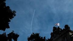 * (Timos L) Tags: sky trees trails chemtrail clouds urban landscape cityscape antwerp antwerpen belgium canon g5x timosl