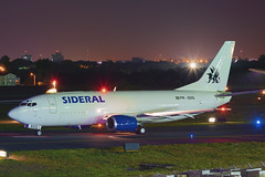 PR-SDQ Sideral Air Cargo Boeing 737-3M8(BDSF) (2) (RafaelBateraSSA) Tags: ssa sbsv salvador night boeing airbus nikon sideral avianca jordan tap copa airlines gulfstream g450 737f a320 767 a330 planes spotter