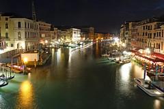 Canale Grande at night (werner boehm *) Tags: wernerboehm italy venice canalegrande rialto nightshot architecture