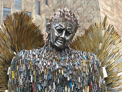 The Knife Angel. P1530921 (Joy Shakespeare) Tags: theknifeangel alfiebradley sculpture knifeangelcampaign coventrycathedral coventry uk britishironworkcentre
