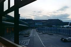 Reflecting (OzGFK) Tags: 35mm cinestill cinestill50d cinestillfilm japan analog film pushed3stops travel narita airport evening sunset