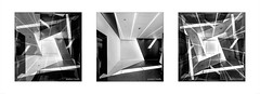 Libeslight . . . (Dichtung & Wahrheit (Poetry and Truth)) Tags: architecture art blackandwhite monochrome triptych kaleidoscope